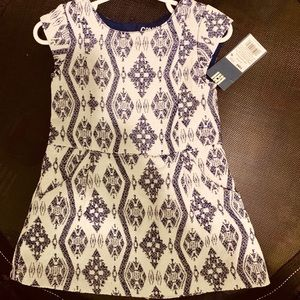 Super cute baby blue and white dress